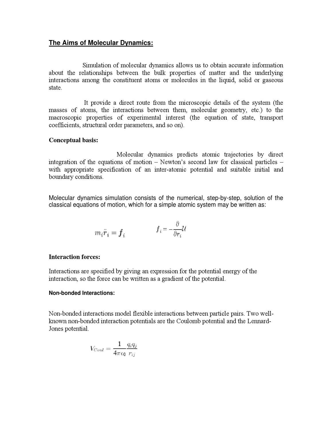 molecular dynamic simulation by Vaibhav Singhal - issuu