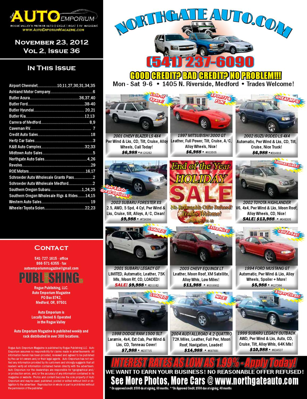 Southern Motors Acura >> Auto Emporium 11/23/12 by Rogue Publishing LLC - Issuu