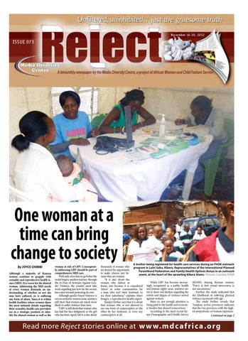 Reject Online Issue 73 By African Woman Child Feature Service Issuu