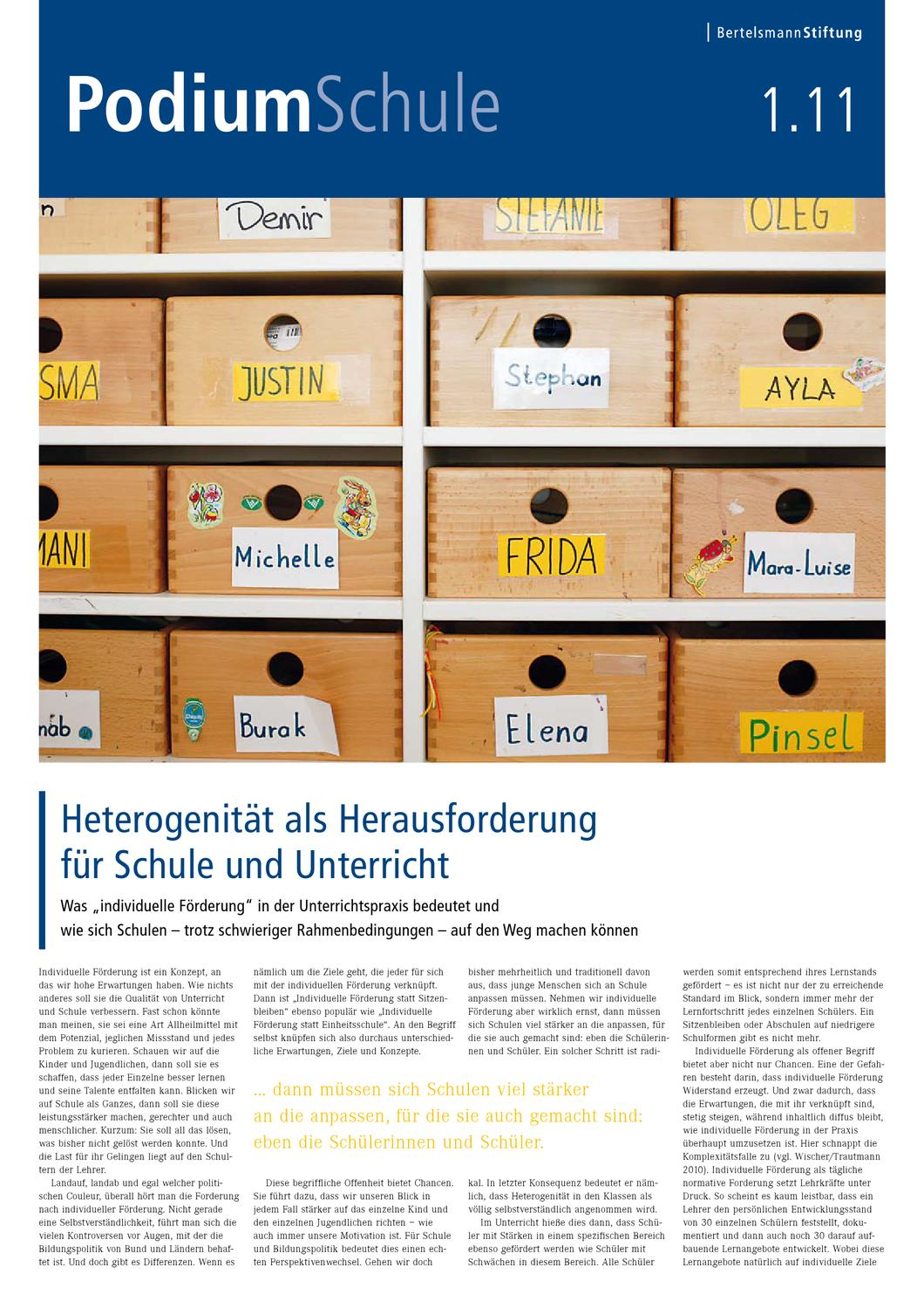 Podium Schule 1.11 - Thema: Individuelle Förderung by Christian Ebel ...