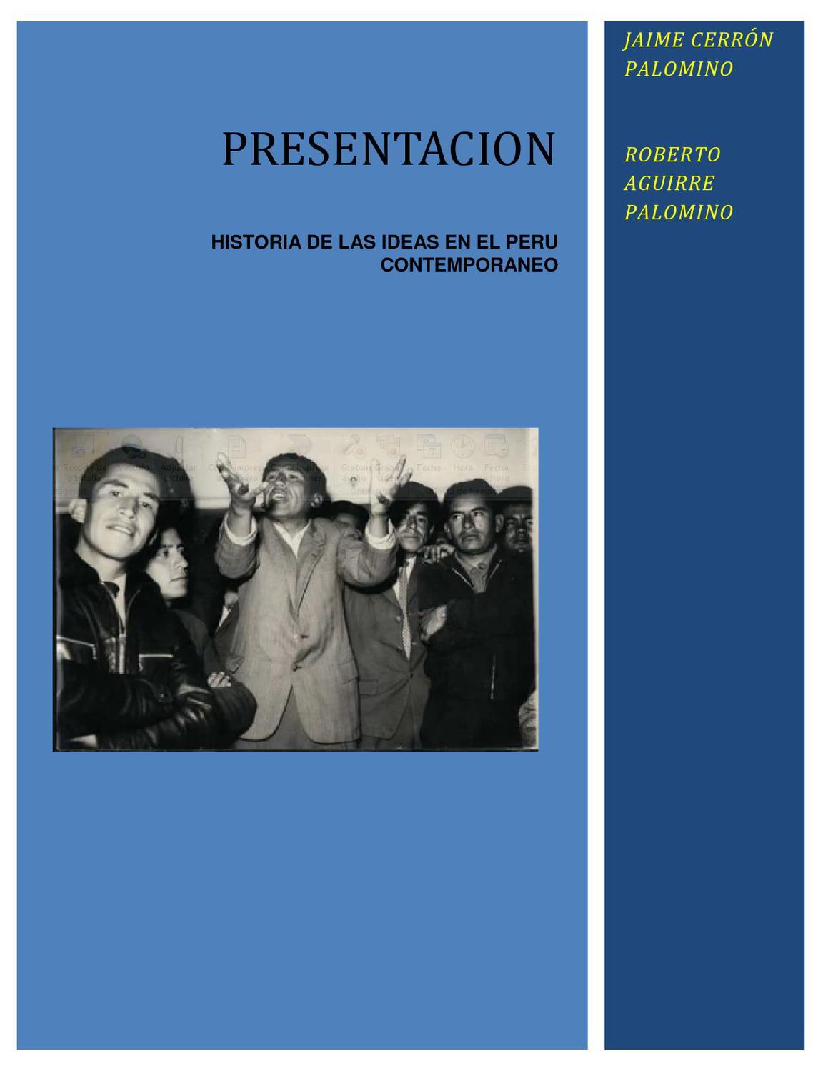 Historia de las ideas en el per contempor neo by waldemar for Caracteristicas de los contemporaneos