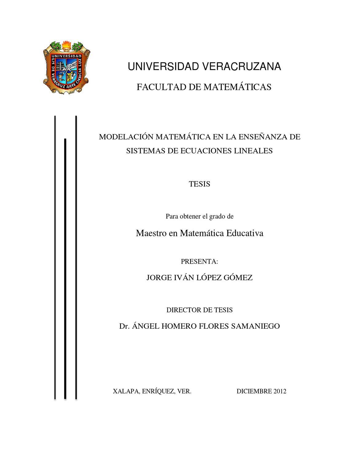 Tesis Modelación Matemática by Jorge Lopez - issuu