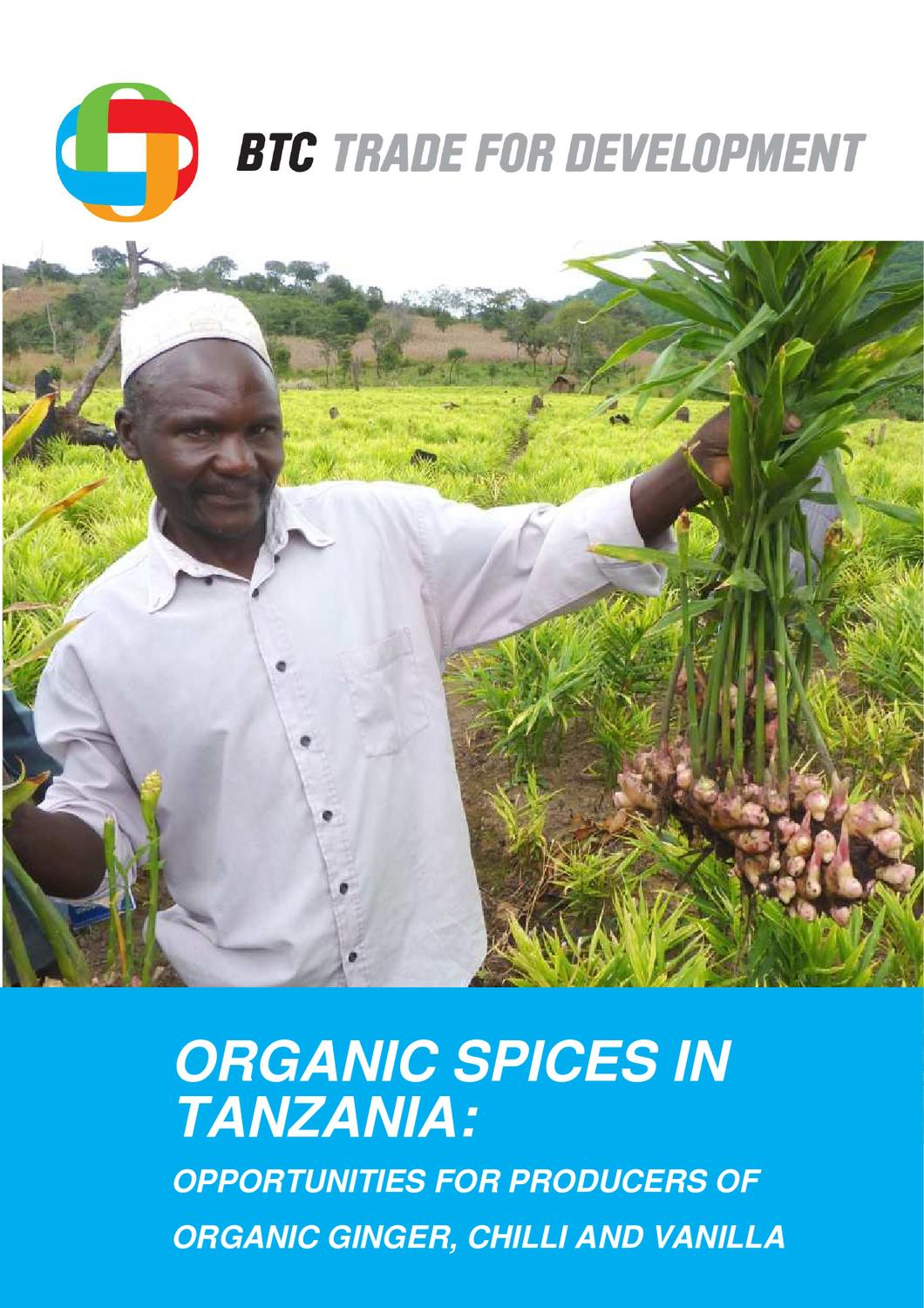 Organic spices in Tanzania: opportunities for producers of