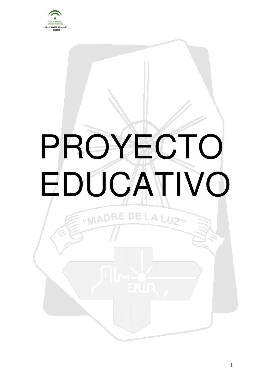 Proyecto Educativo del CEIP Madre de la Luz by AMPA Mediterraneo - issuu