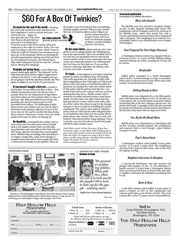 Half Hollow Hills Newspaper November 22 2012 By Long Islander Newspapers Issuu