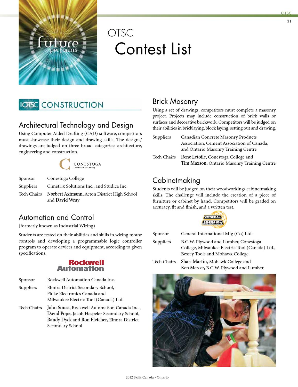 Otsc Showguide Skills Ontario By Icontact Design Issuu Complete Wiring Solutions Ltd