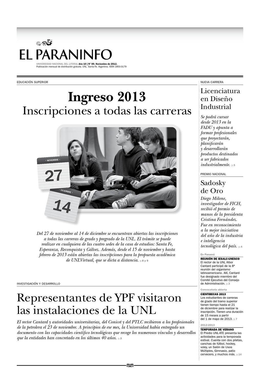 UNL - El Paraninfo   89 by Universidad Nacional del Litoral - issuu