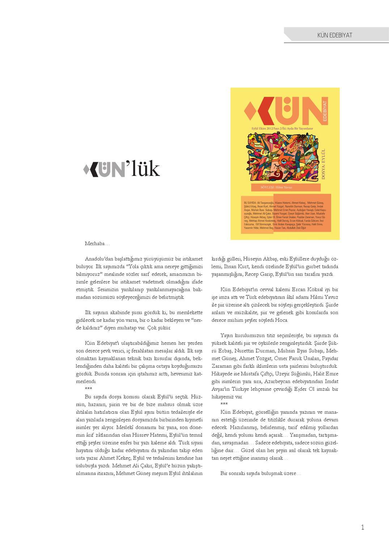 Kun Edebiyat By Oguzhan Yavuz Issuu