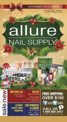 b09b55a34195 Allure Nail Supply November December Catalogue by Allure Nail Supply ...