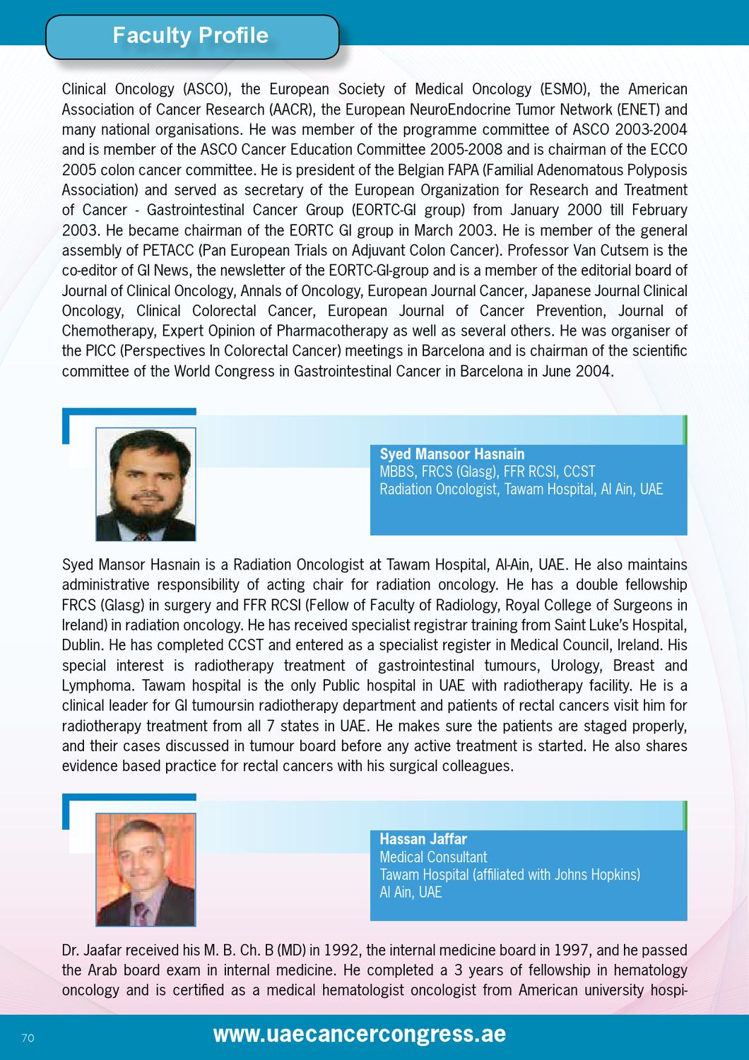 UAE Cancer Congress by MCI TangenC - issuu