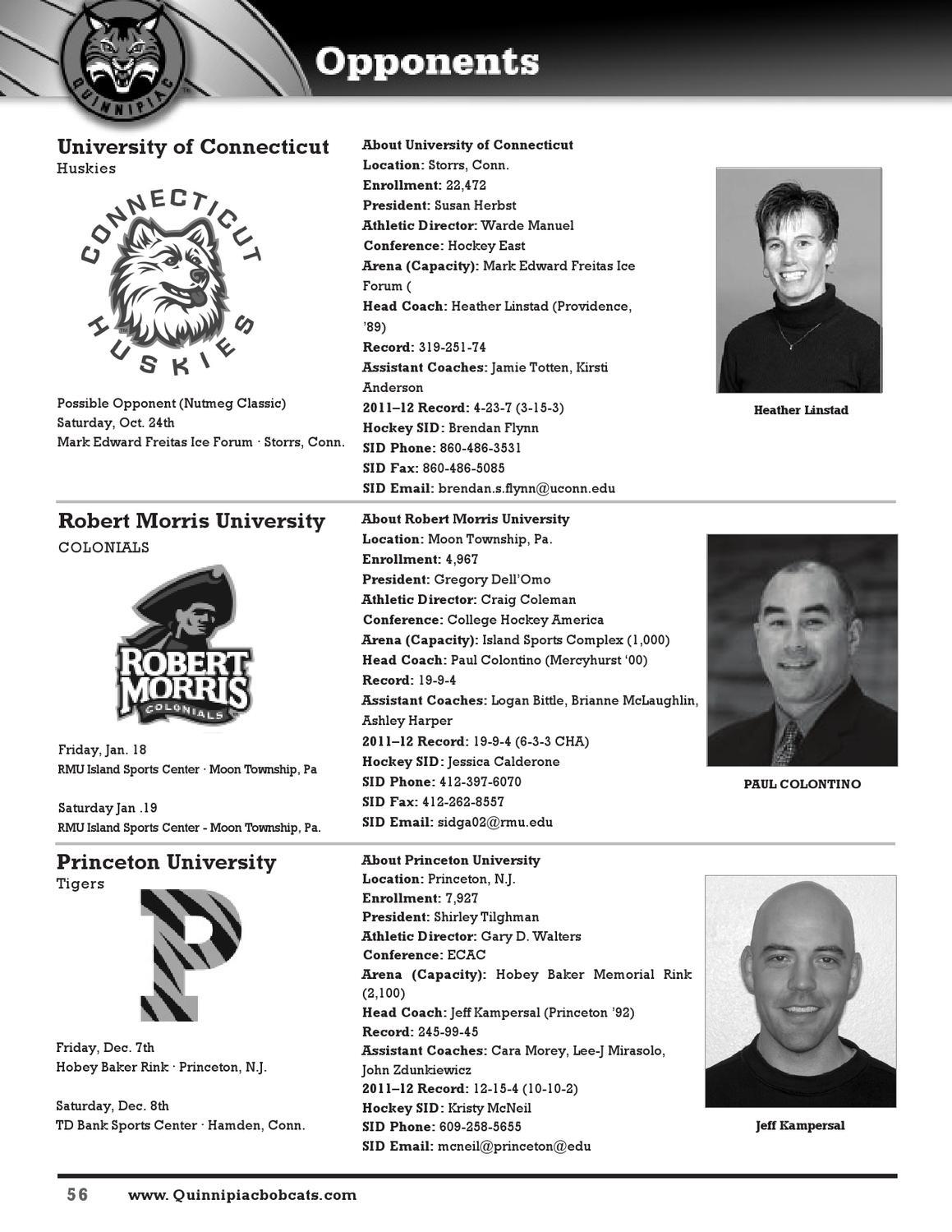 2012-13 Quinnipiac Women's Ice Hockey Media Guide by Jack