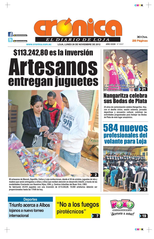 Diario Cronica 26 Noviembre 2012 Edicion 8507 By Diario Cr Nica  # Muebles Narciso Caaguazu
