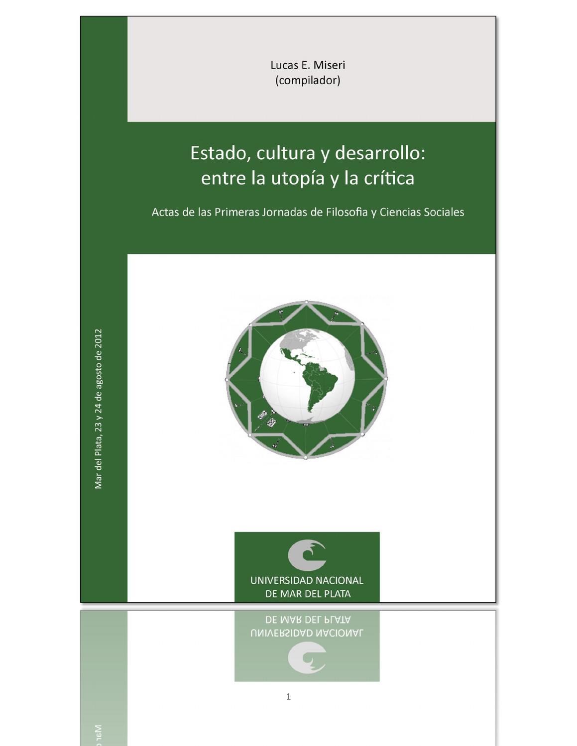 Misseri (comp) Estado, cultura y desarrollo: entre la utopía y la ...