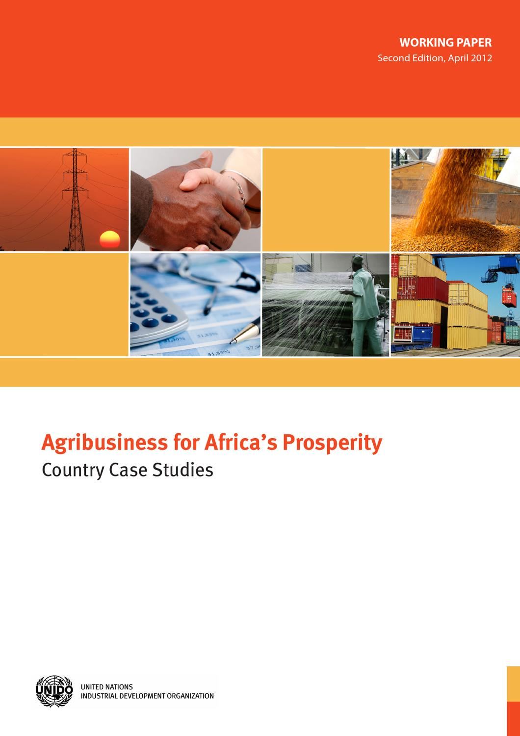 Agribusiness for Africa's Prosperity by UNIDO - issuu