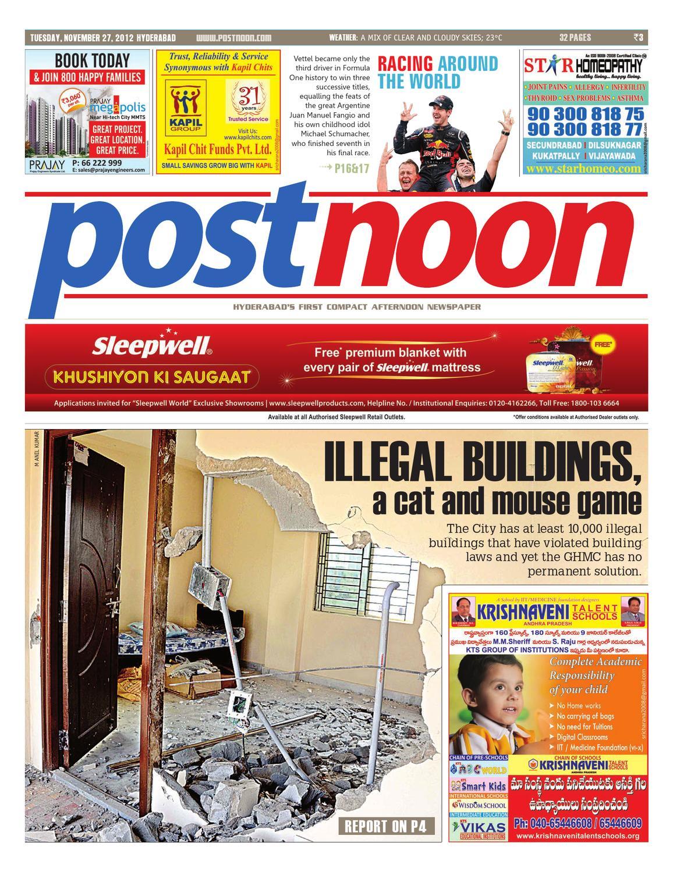 Postnoon E-Paper for 27 November 2012 by Scribble Media