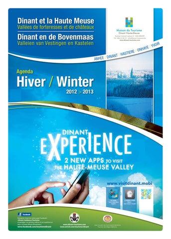 Journal hiver by maison du tourisme vall e de la meuse namur dinant issuu - Office du tourisme dinant ...