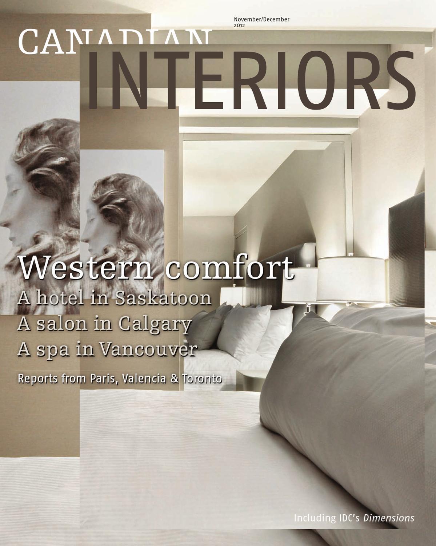 Canadian interiors november december 2012