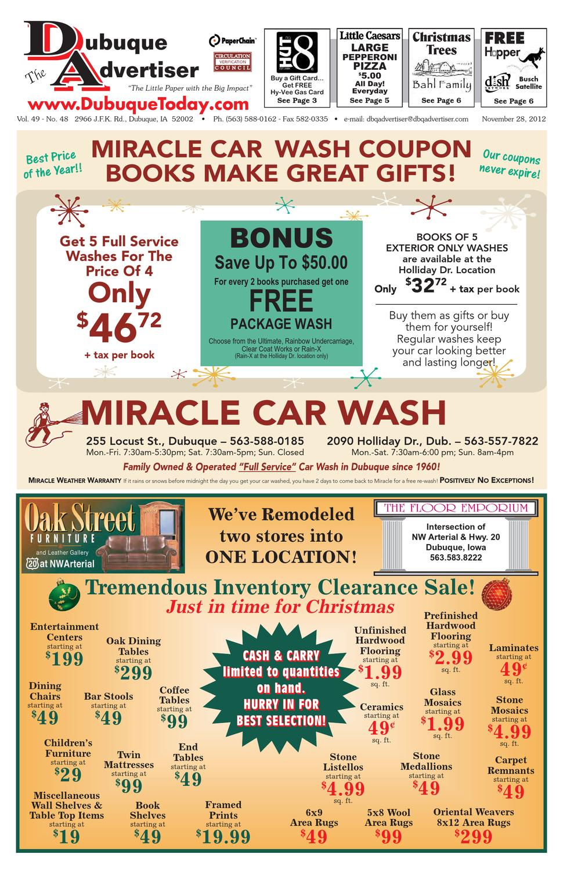Bonus Car Wash Coupon