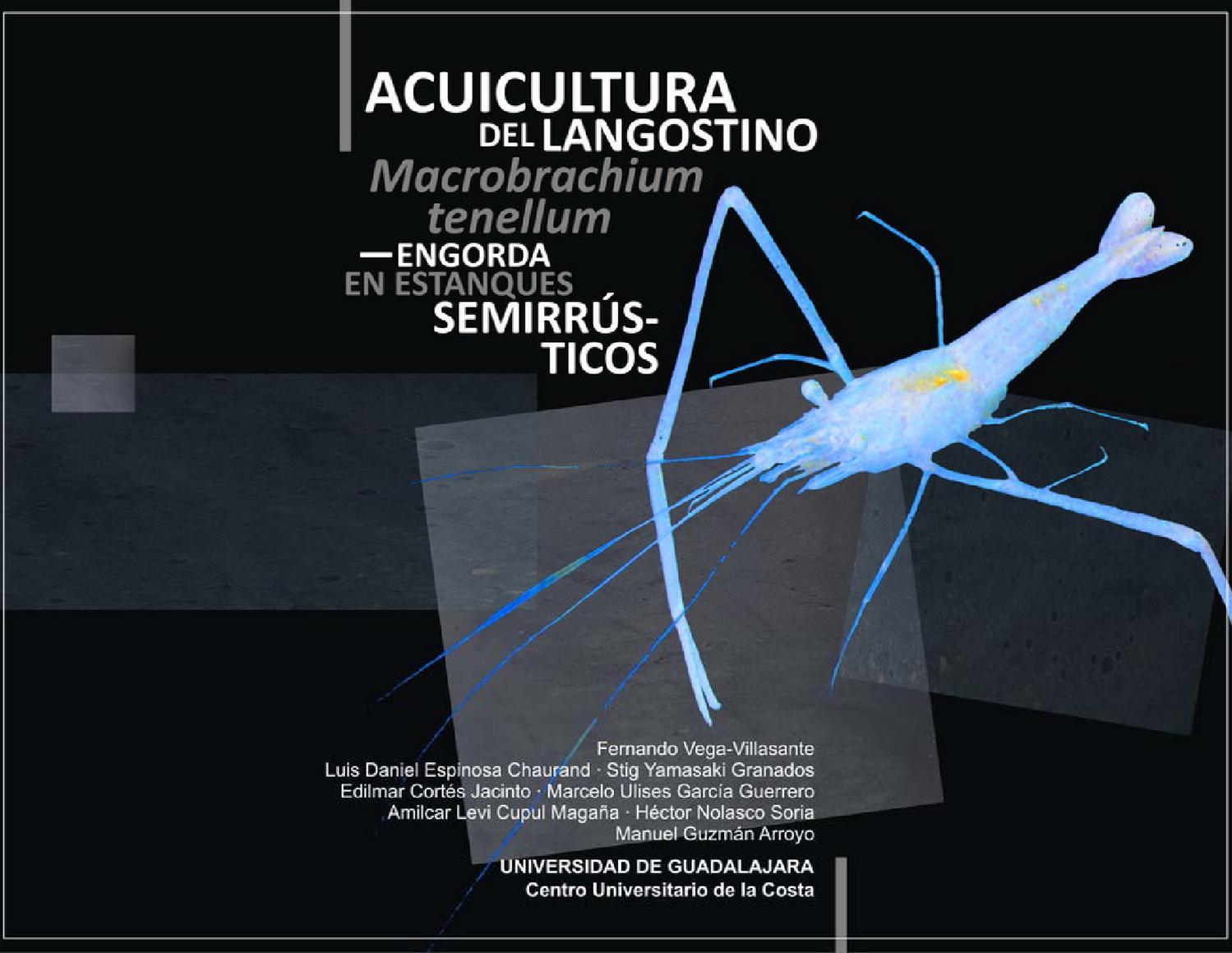 Acuicultura del langostino Macrobrachium tenellum by Fernando Vega ...