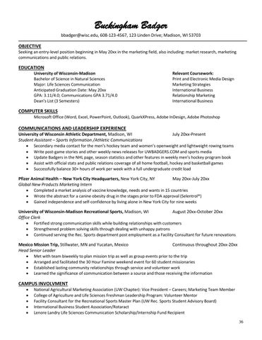 page 37 - Resume For Life Science Student