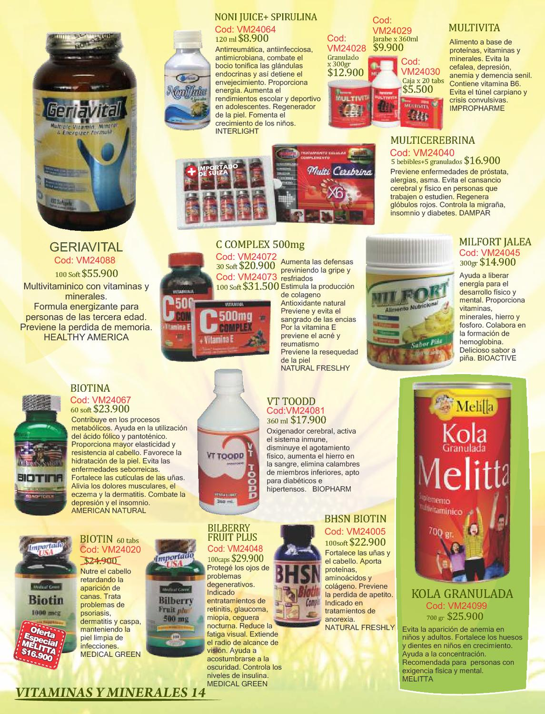 Vitaminas recomendadas para la depresion