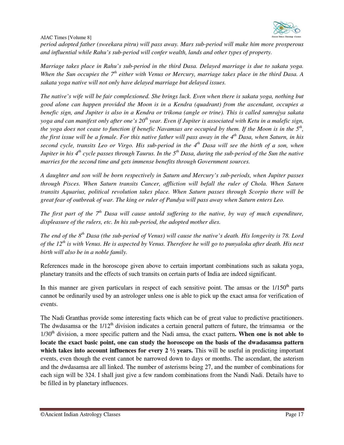 AIAC Times Volume by Saptarishis Astrology - issuu
