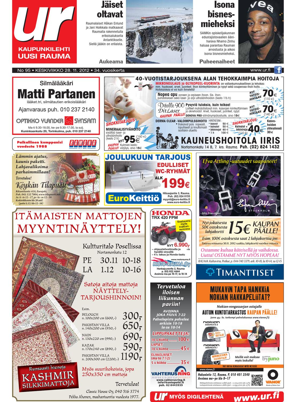 Uusi Rauma 28.11.2012 by Marva Group - issuu 620ee8e7be