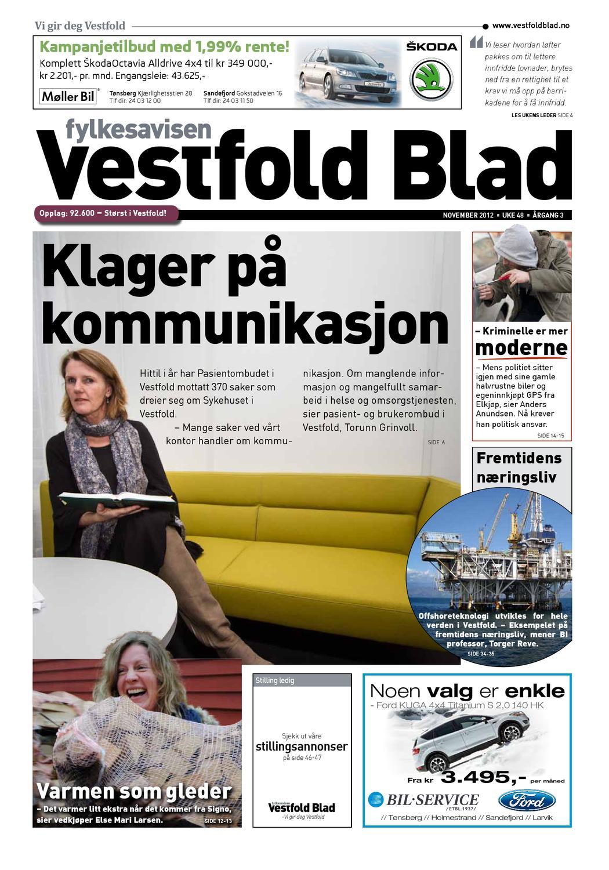 ecd106dc9ca Vestfold Blad - uke 48 2012 by Byavisa Sandefjord - issuu