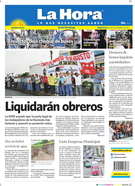 a6b381070b Edición impresa Santo Domingo del 28 de noviembre de 2012 by Diario La Hora  Ecuador - issuu