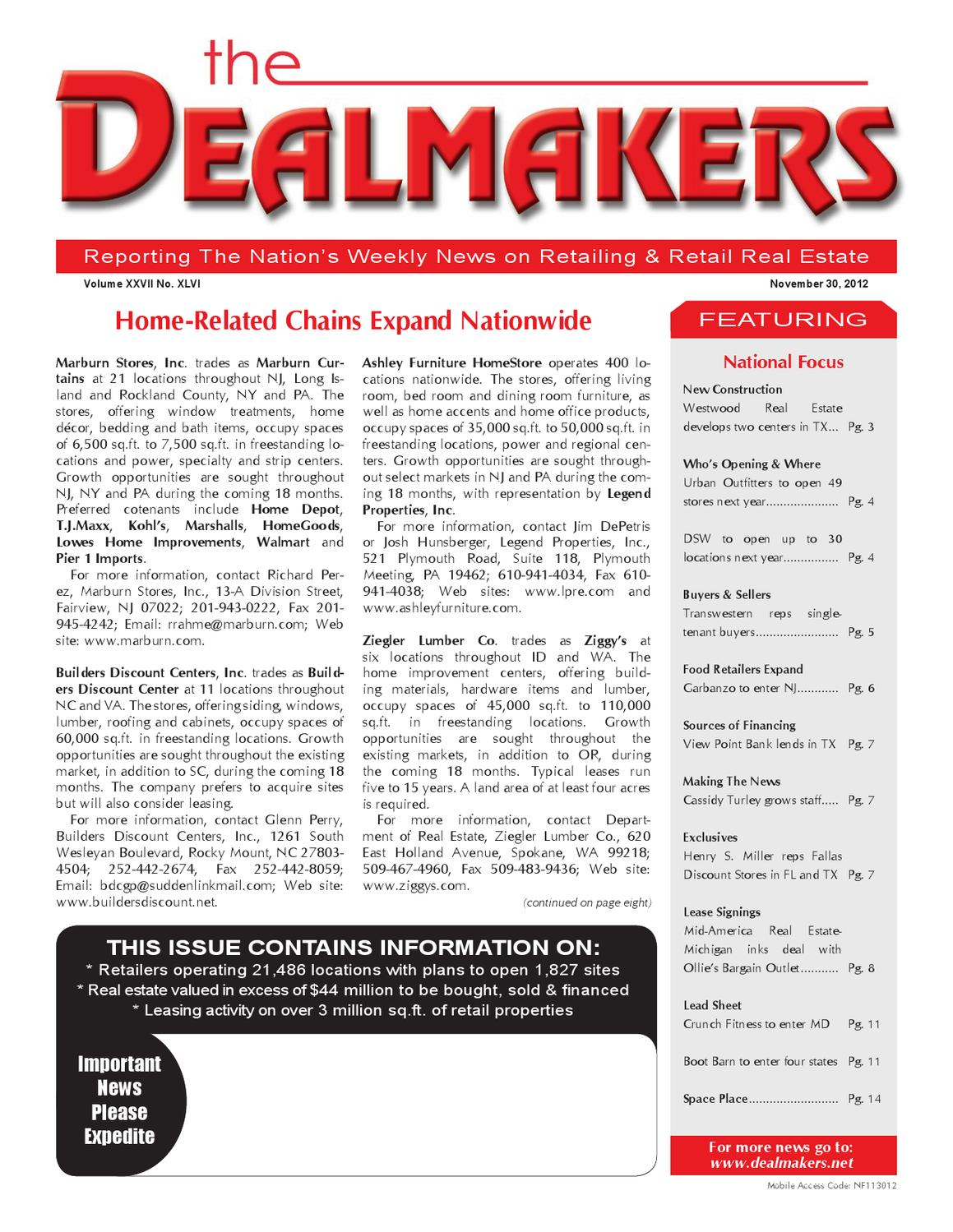 Dealmakers Magazine November 30 2012 By The Dealmakers