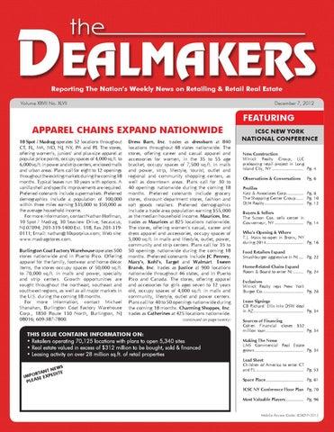 dealmakers magazine december 7 2012 by the dealmakers magazine