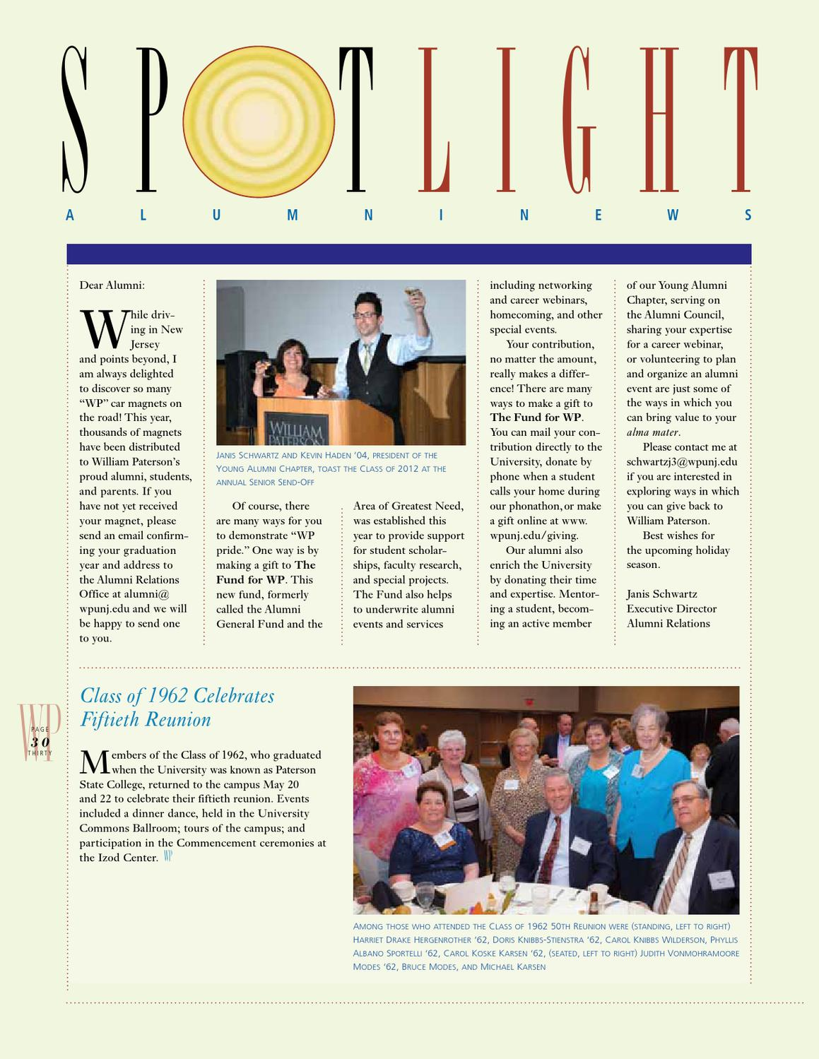 WP Magazine Fall 2012 by William Paterson - issuu 87fdcd7725d