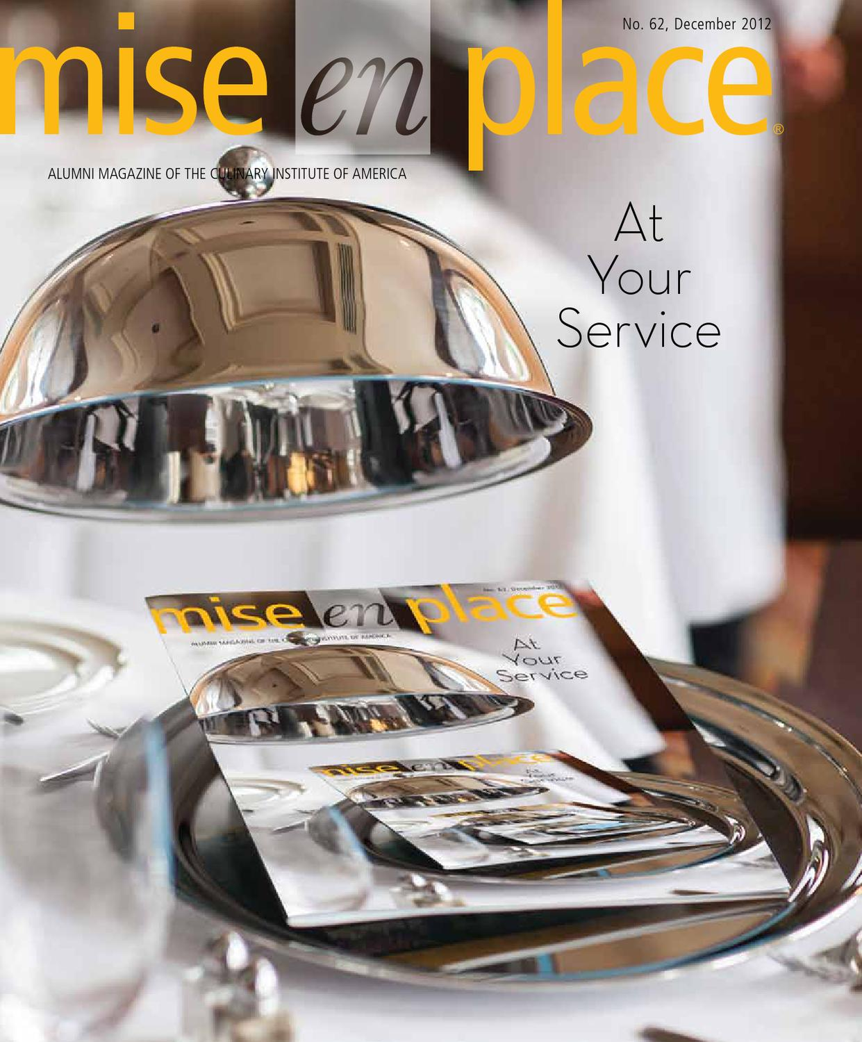 Mise En Place Design mise en place issue 62 at your service by the culinary