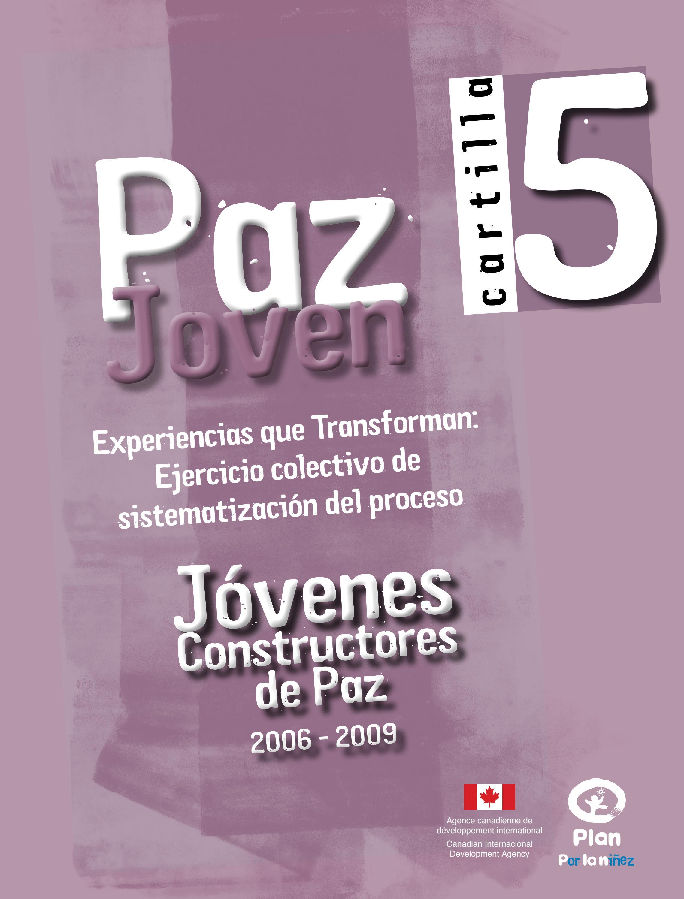 Paz Joven - Jóvenes Constructores de Paz - Cartilla 5 by Fundación ...