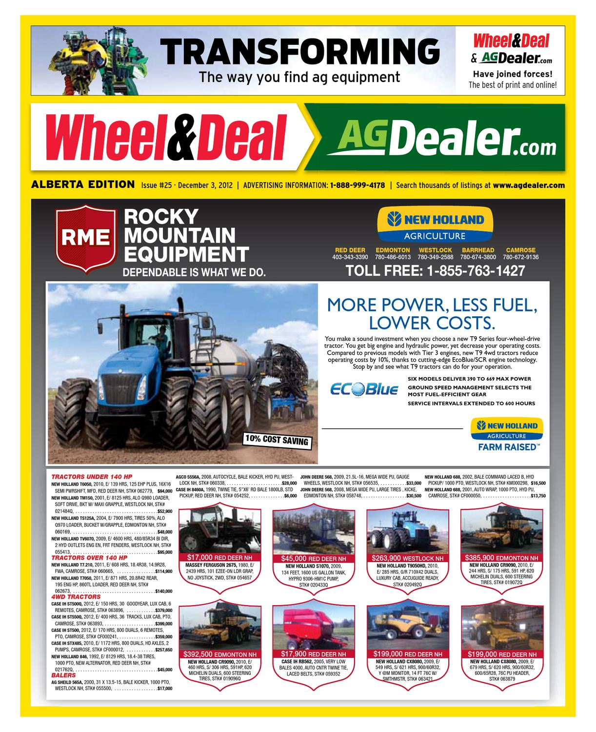 Wheel & Deal Alberta, December 3, 2012 by Farm Business Communications  - issuu