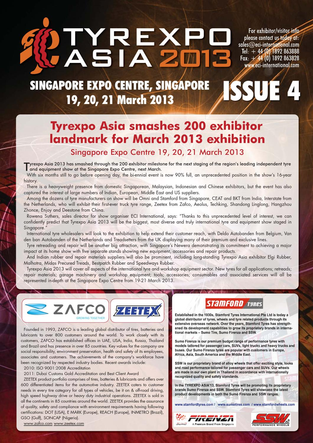 Tyrexp Asia13 Newsletter Issue 4 By First Sight Graphics Issuu