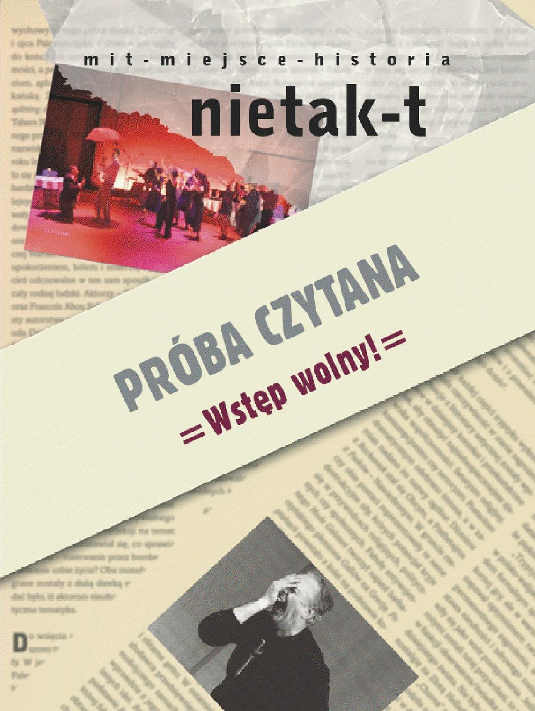 Nietakt Nr 1 By Fundacja Teatr Nie Taki Issuu