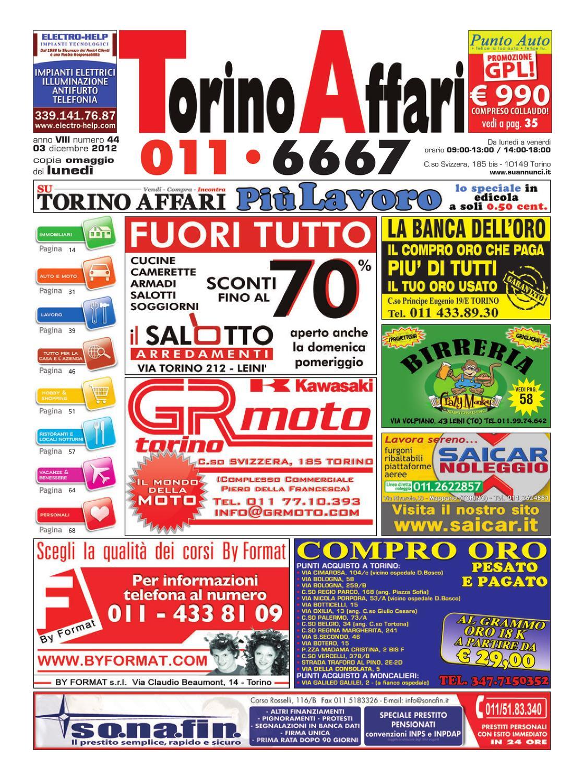 Torino Affari nr. 44 by Maura Benassi - issuu 1d36b0923920