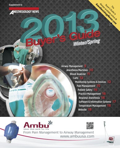 Anesthesiology News Buyer's Guide by McMahon Group - issuu