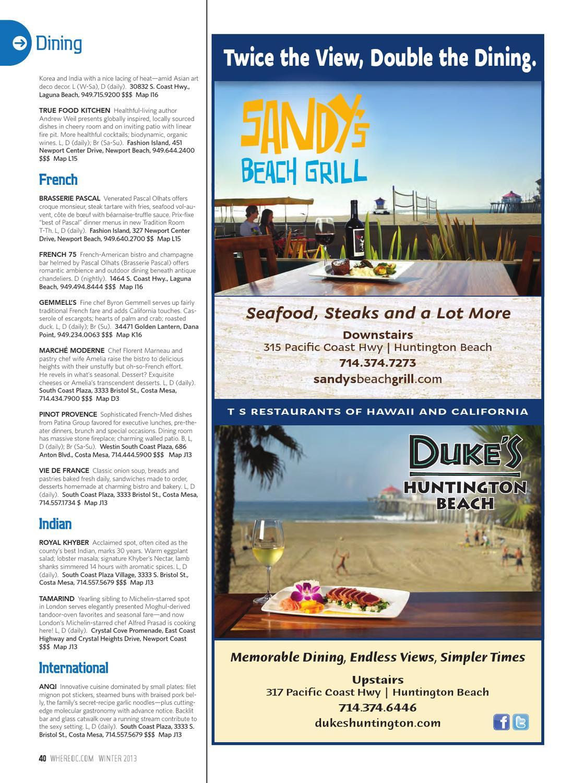 Where Orange County Magazine Winter 2013 By Socalmedia Issuu