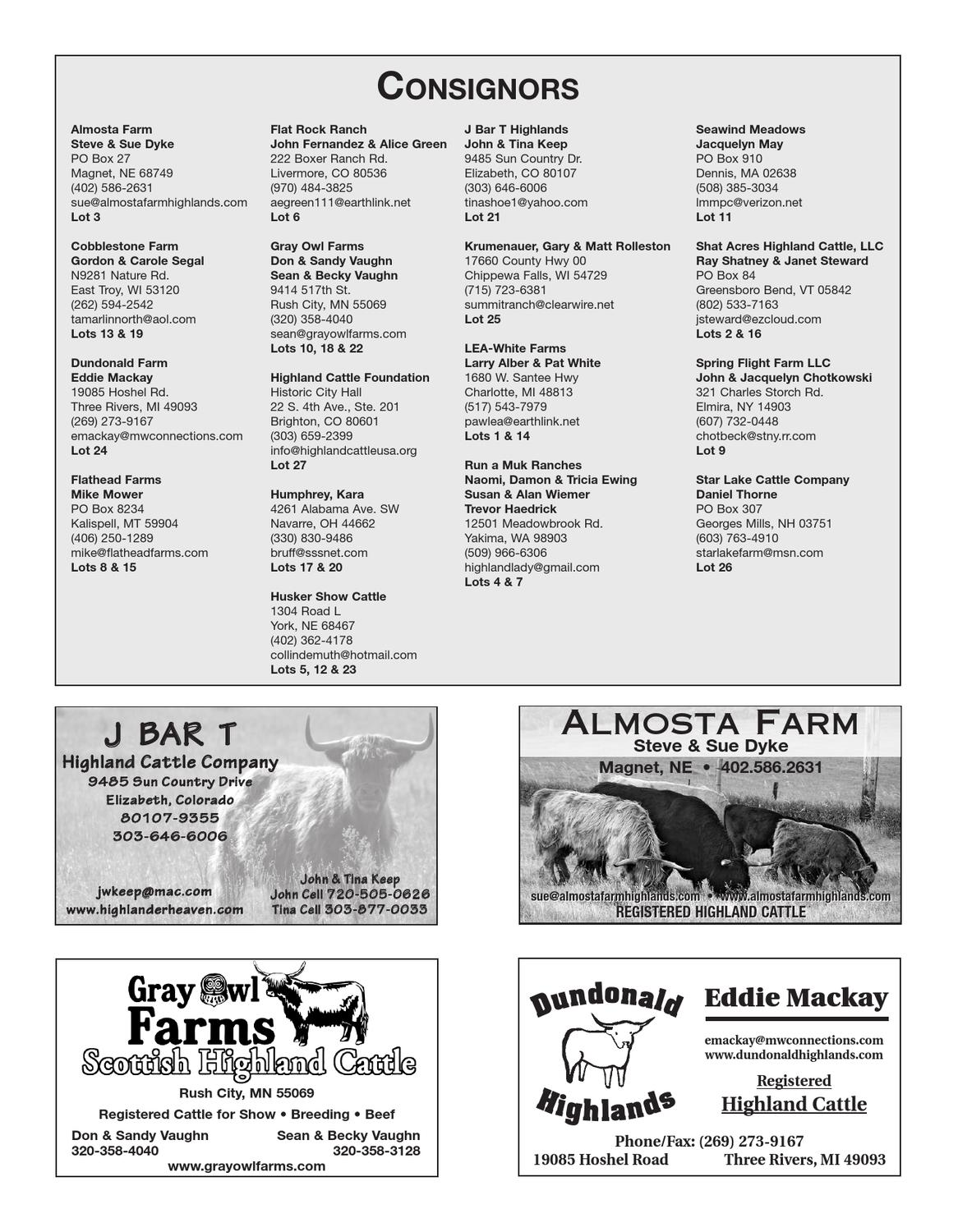 25th Annual National Highland Sale by Cattle In Motion, LLC