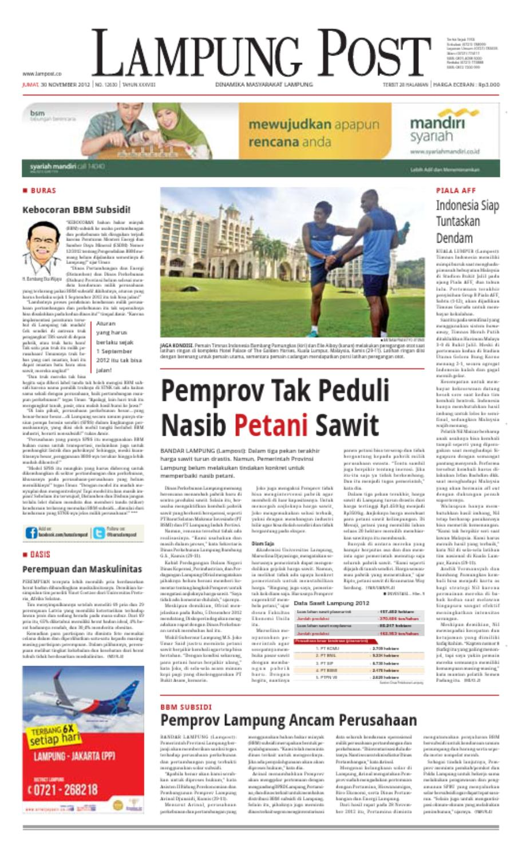 Lampungpost Edisi Jumat 30 November 2012 By Lampung Post Issuu Kopi Bos Ila Arifin Amr