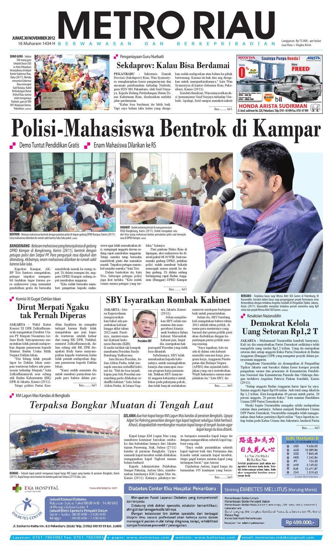 301112 By Harian Pagi Metro Riau Issuu Kemeja Anak Tangan Panjang Kotak Orange Variasi 78 Rsby 2854