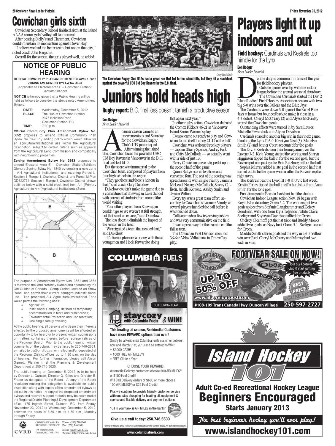 Cowichan News Leader Pictorial, November 30, 2012 by Black Press