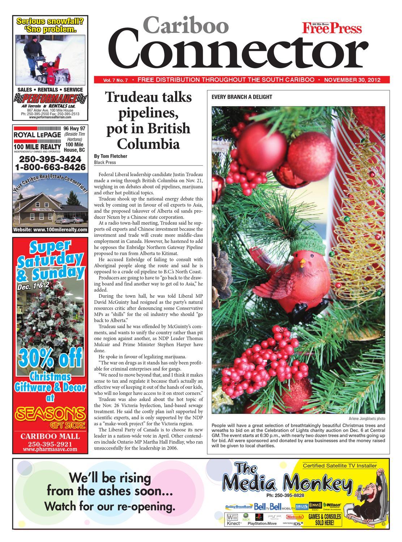 100 Mile House Free Press, November 30, 2012 by Black Press