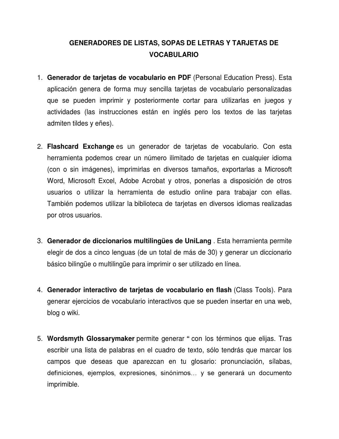 Generadores de sopas de letras y tarzjetas by sergio saldarriaga - issuu