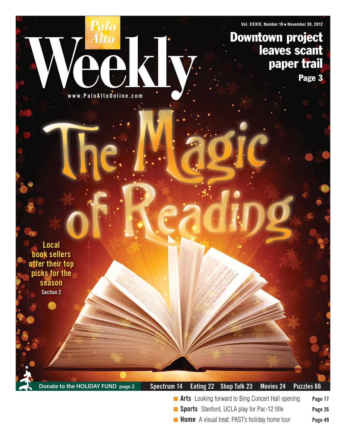Palo Alto Weekly 11 30 2012 - Section 1 by Palo Alto Weekly