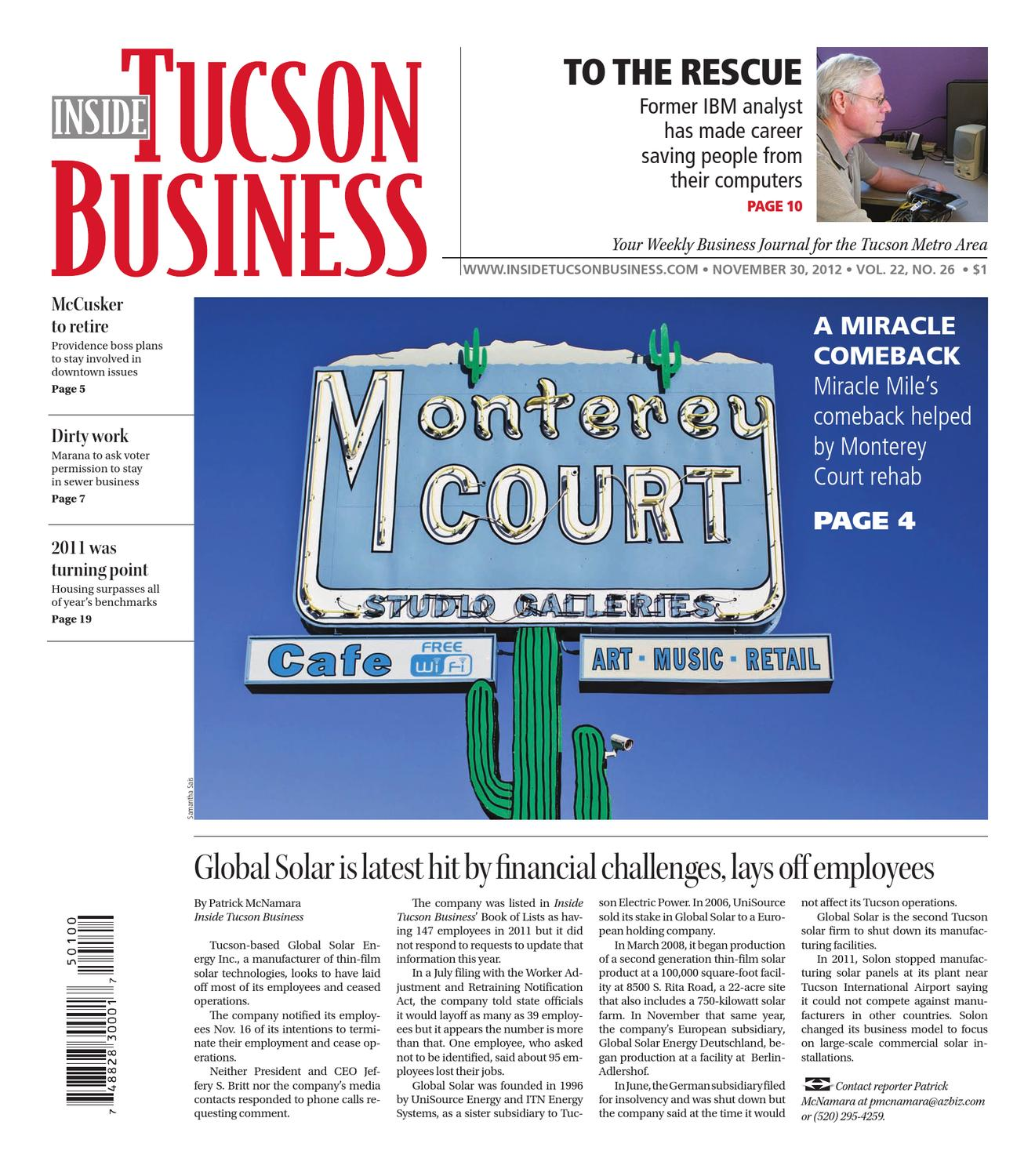 Inside Tucson Business 11 30 2012 by Territorial Newspapers issuu