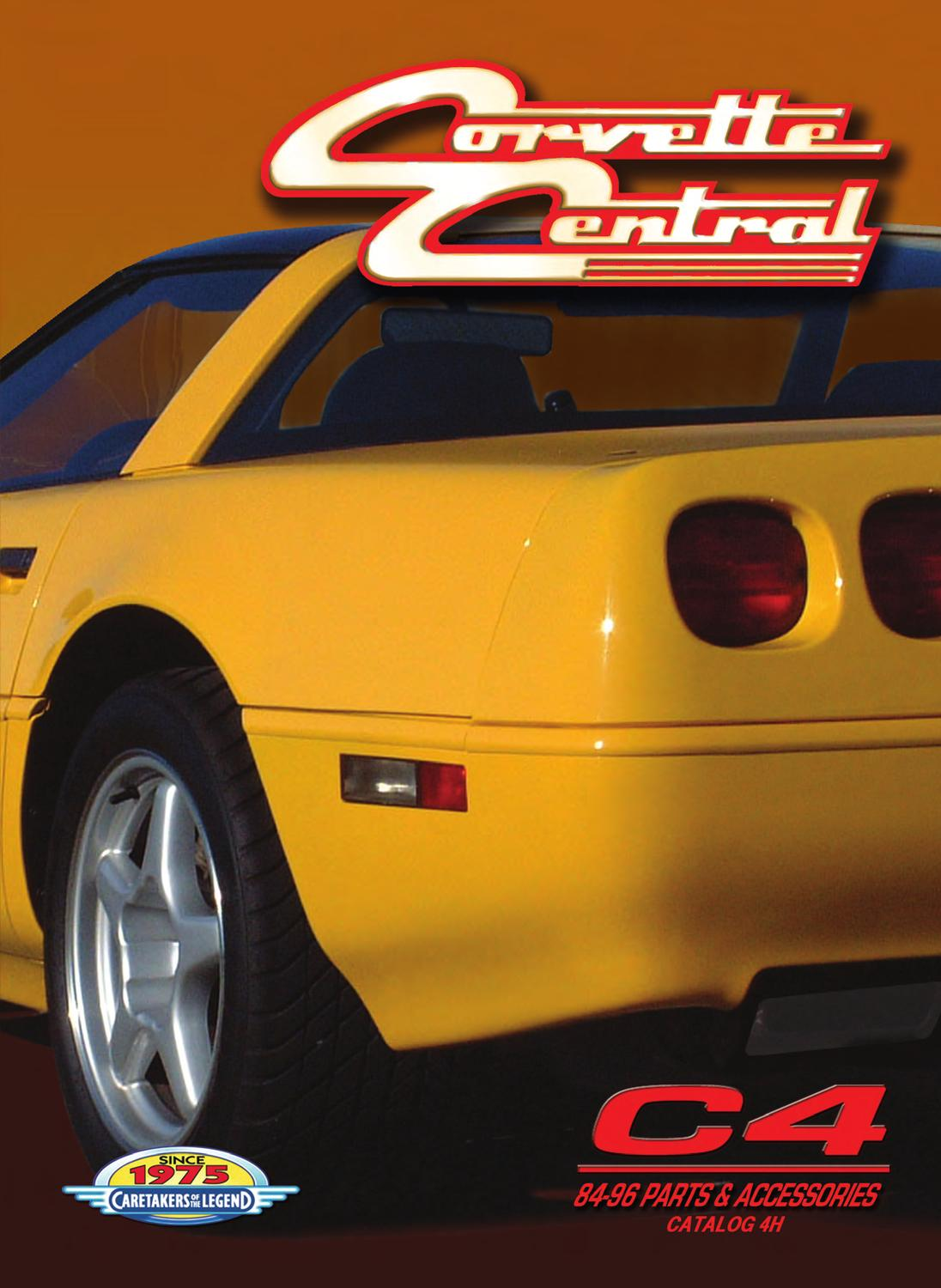Corvette Central C4 84 96 Corvette Parts Catalog By Corvette