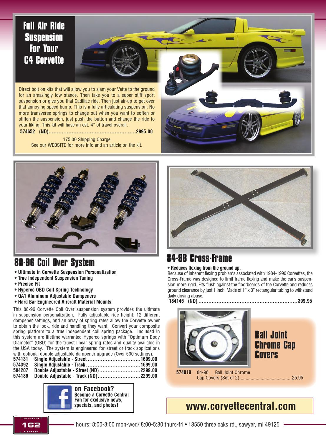 Corvette Central C4 (84-96) Corvette Parts Catalog by